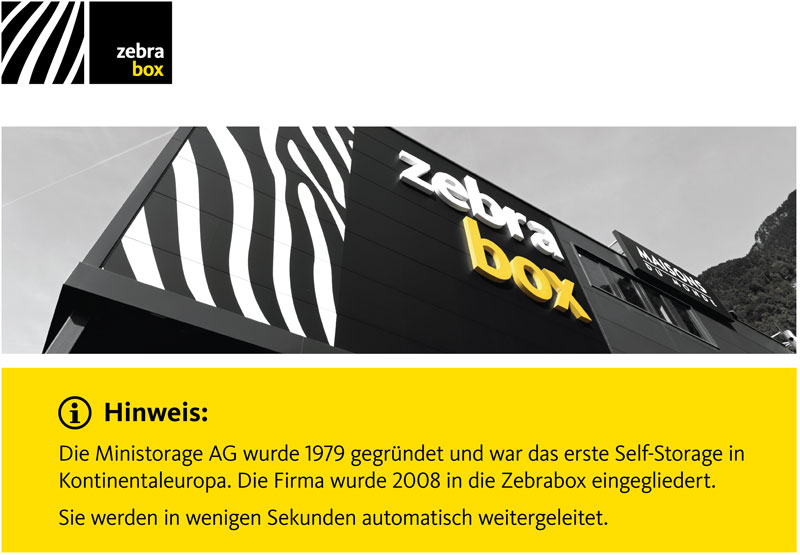 Zebrabox - Ministorage AG